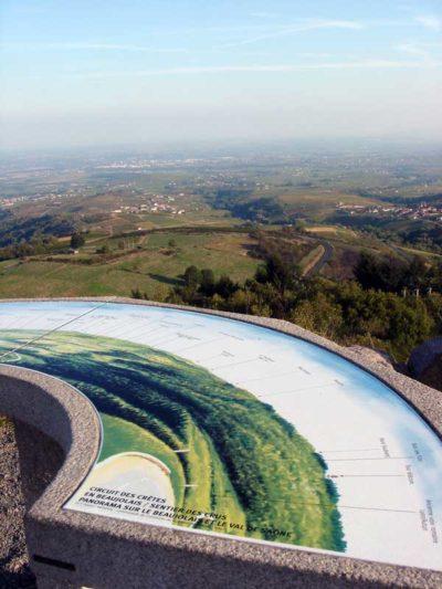 Panoramic view of the Beaujolais